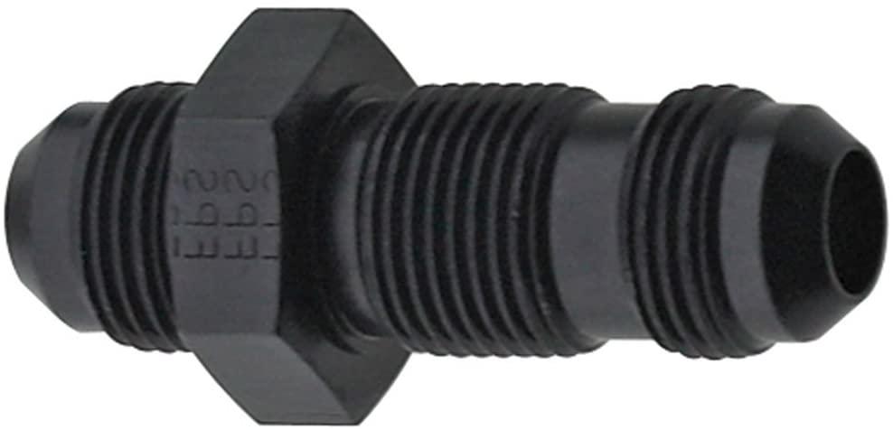 Fragola 483206-BL Black Size (-6) Straight Bulkhead Fitting