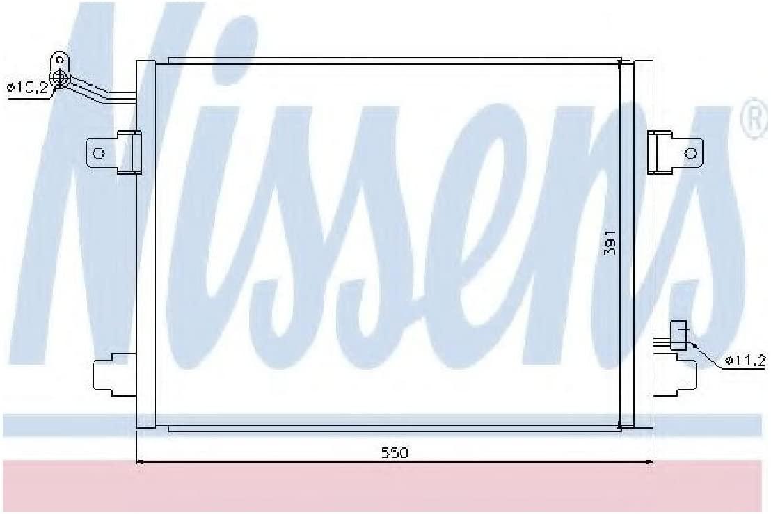 Nissens 94835 Condenser, air conditioning