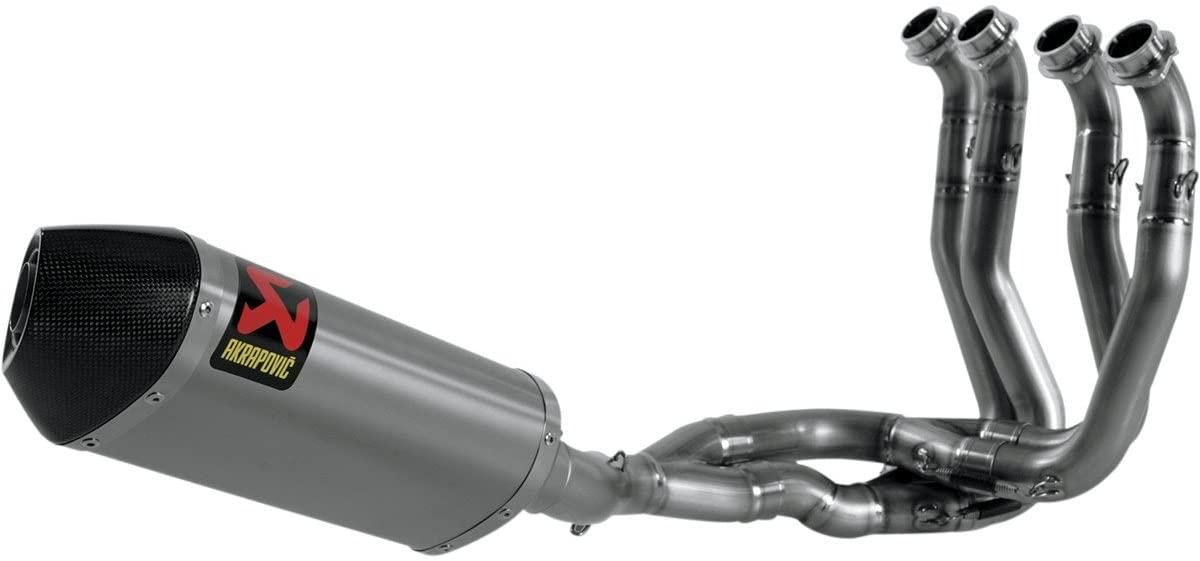 Akrapovic Evolution Line Full System (4:2:1) - Hexagonal Titanium Muffler , Material: Titanium S-H10RFT6TL-TT