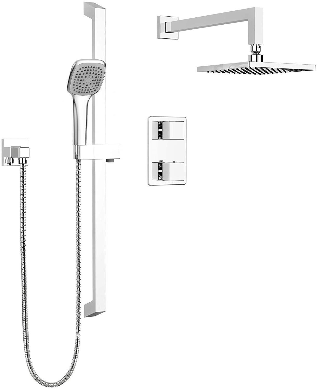 Keeney Belanger KIT-QUA140TSCP Rain Thermostatic Dual Function Complete Shower System