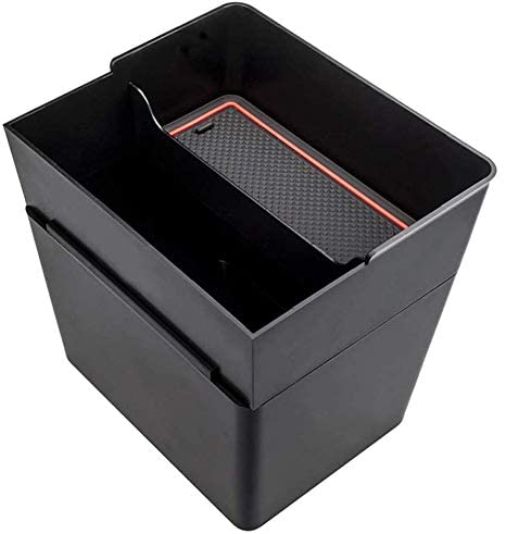 ASDZ Practical Car Center Console Trash and Storage Bin Accessories Kit for Tesla Model 3 Interior, Car Center Console Organizer