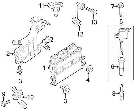 Ford Oem Engine Control Module Bracket Dg9z12a659e Image 2