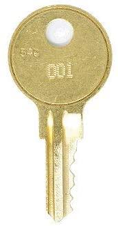 Craftsman 105 Replacement Keys: 2 Keys