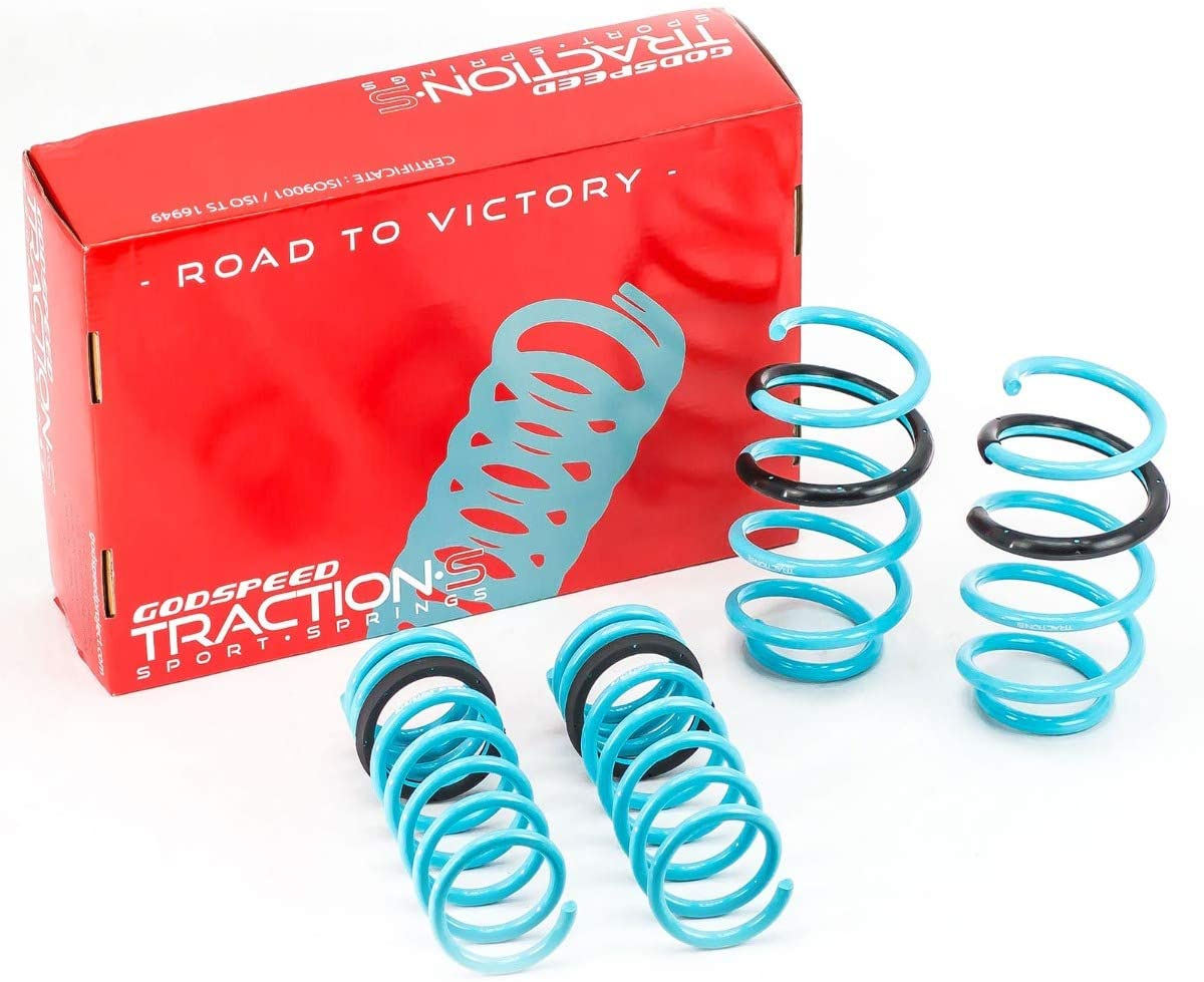 Godspeed LS-TS-FD-0005 Traction-S Performance Lowering Springs, Reduce Body Roll, Improved Handling, Set of 4, compatible with Ford Focus ST 2014-2019