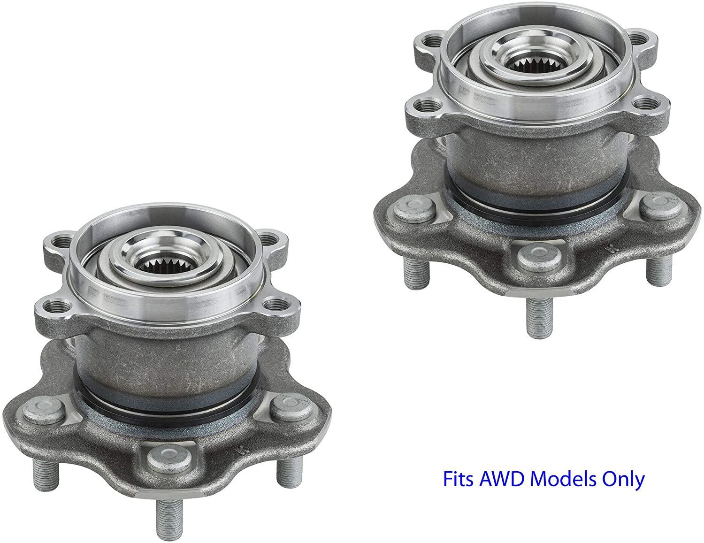 2 DTA Rear Wheel Bearing Hub Assemblies Fit 2014-2019 Nissan Rogue, Rogue Sport, Qashqai 2014-2017 Juke, AWD Only, Will NOT Fit 2WD