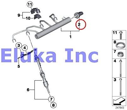 2 x BMW Genuine Fuel Injection High-Pressure Sensor X5 35iX X6 35iX 135i X1 28i X1 28iX X1 35iX 135i Z4 28i 335i 335xi 335i 335xi 335i 740i 750i 750iX ALPINA B7 ALPINA B7X 760Li 740Li 740LiX 750Li 750LiX 760Li ALPINA B7L ALPINA B7LX Hybrid 7L 640i 640iX 650i 650iX ALPINA B6X M6 535i 535iX 550i 550iX 535i 5