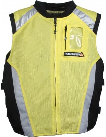 Joe Rocket Men's Military Spec Mesh Vest (Yellow, Large/X-Large)