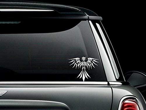 PotteLove Tribal Phoenix # 2 Vinyl Car Truck Window Bumper Sticker Decal, 5 Inch Height