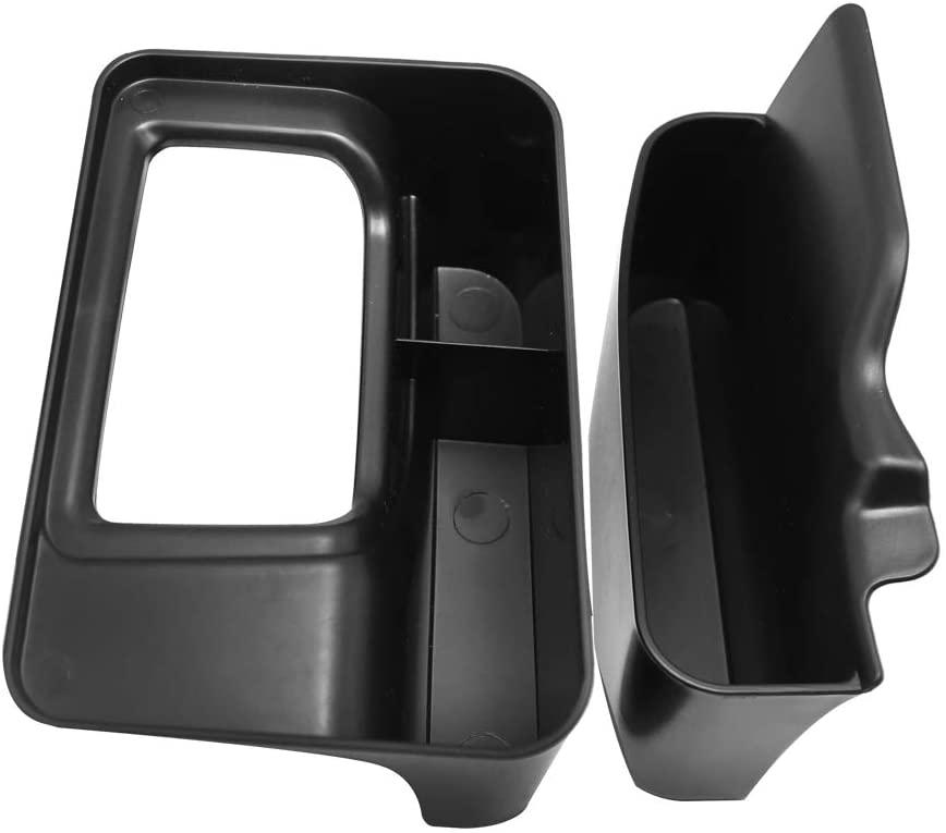 Gear Shifter Console Storage Box Center Console Box Organizer Fit for 2018-2019 Jeep Wrangler JL JLU & 2020 Jeep Gladiator JT - 2 Packs