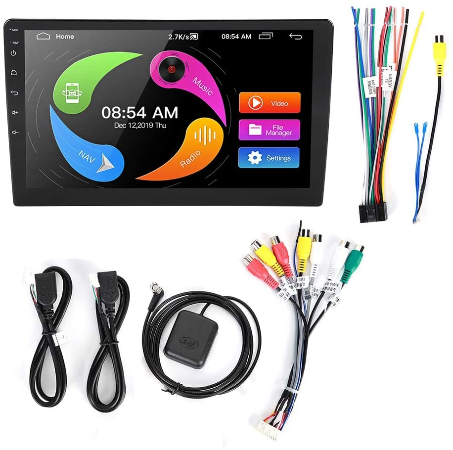 12V 7in 2Din Touch Screen Car Media Player Car MP5 Player 10.1in Touch Screen 1G+16G FM Stereo Audio Video for Android 8.1
