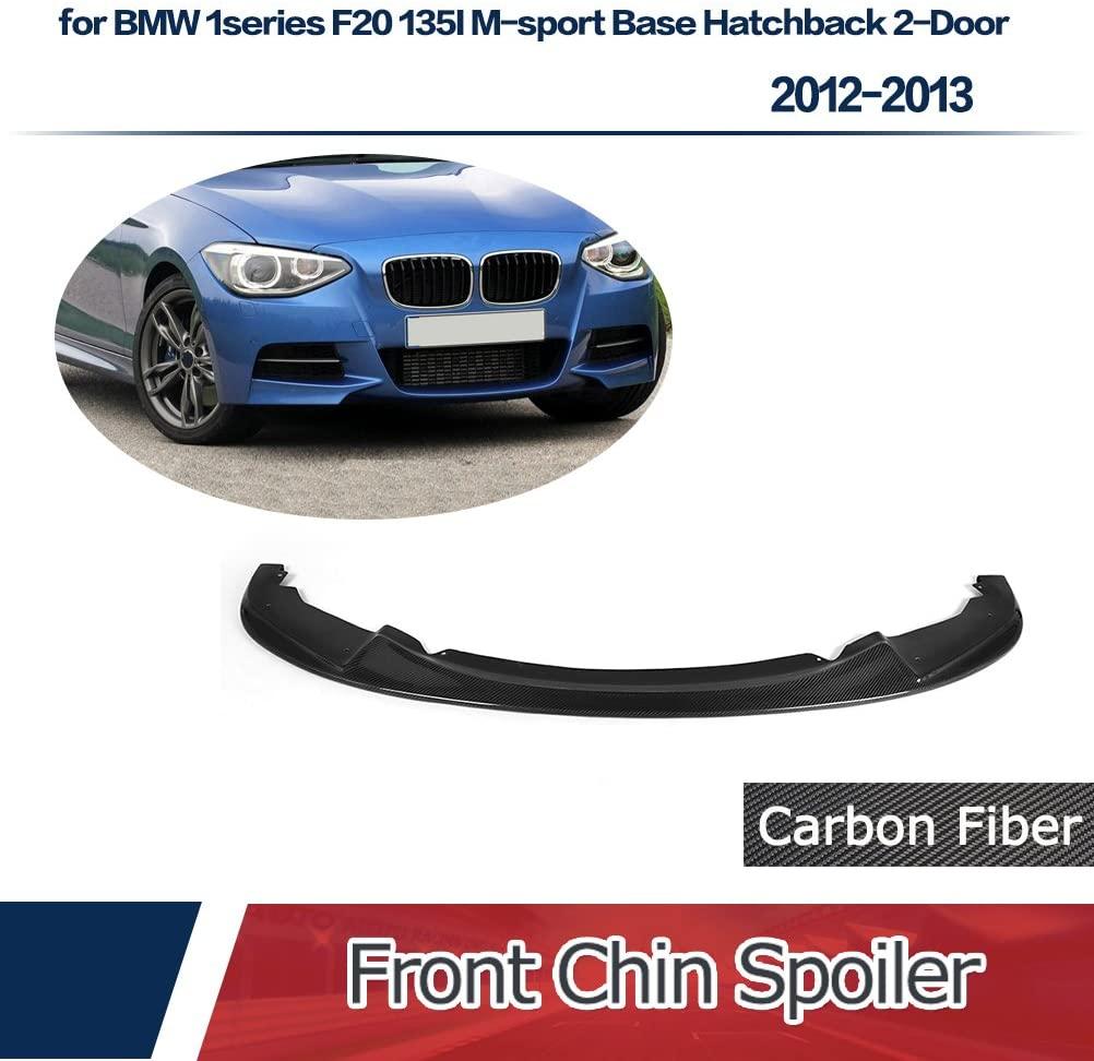 JC SPORTLINE fits BMW 1series F20 135I M-Sport 2012-2013 Carbon Fiber Front Chin Spoiler