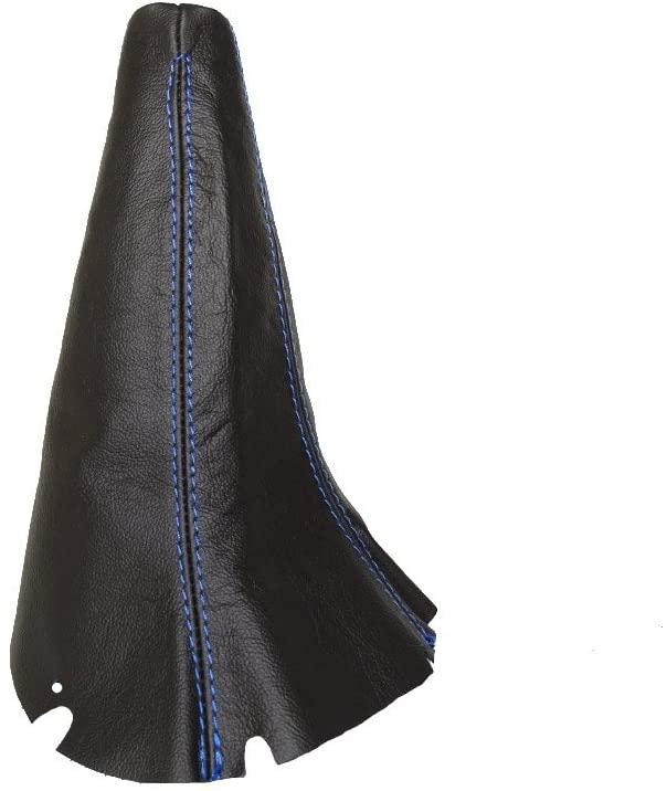 The Tuning-Shop Ltd for Subaru Impreza WRX STI 2001-05 5 Speed Shift Boot Black Genuine Leather Blue Stitching