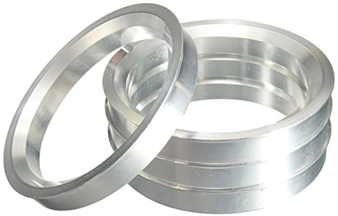 A set of 4 Wheel Hubrings Aluminium Hub Centric Rings 59.6x74.1mm