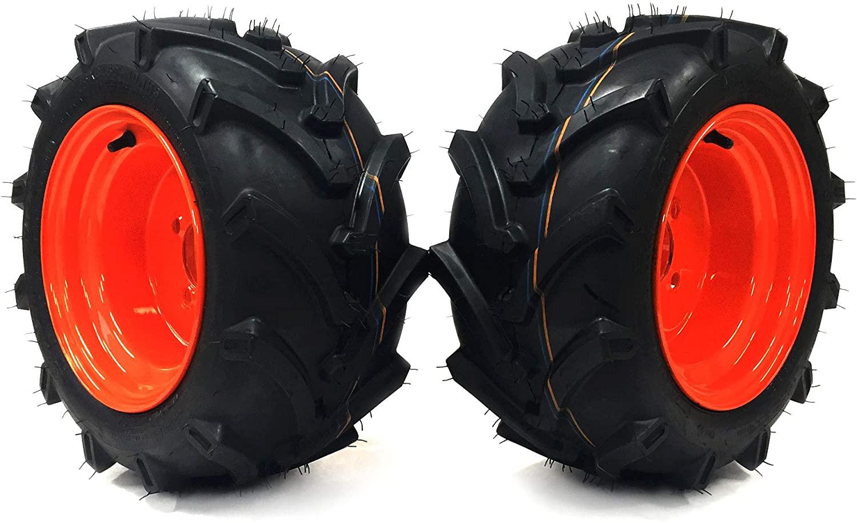 MowerPartsGroup (2) Lawn Trac Front Wheel Assemblies 18x8.50-10 for Kubota BX2350D BX2360 BX2370