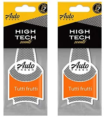 Auto Fresh Dry High Tech Scents Luxe Series Car Air Freshener Pack of 2 (Tutti Frutti)