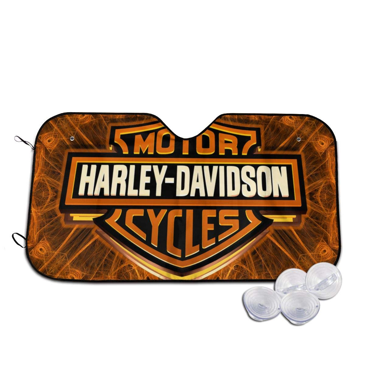 Harley-Davidson Front Windshield Sun Shade Auto Sunshade for Car Truck SUV Keep Your Vehicle Cool Small