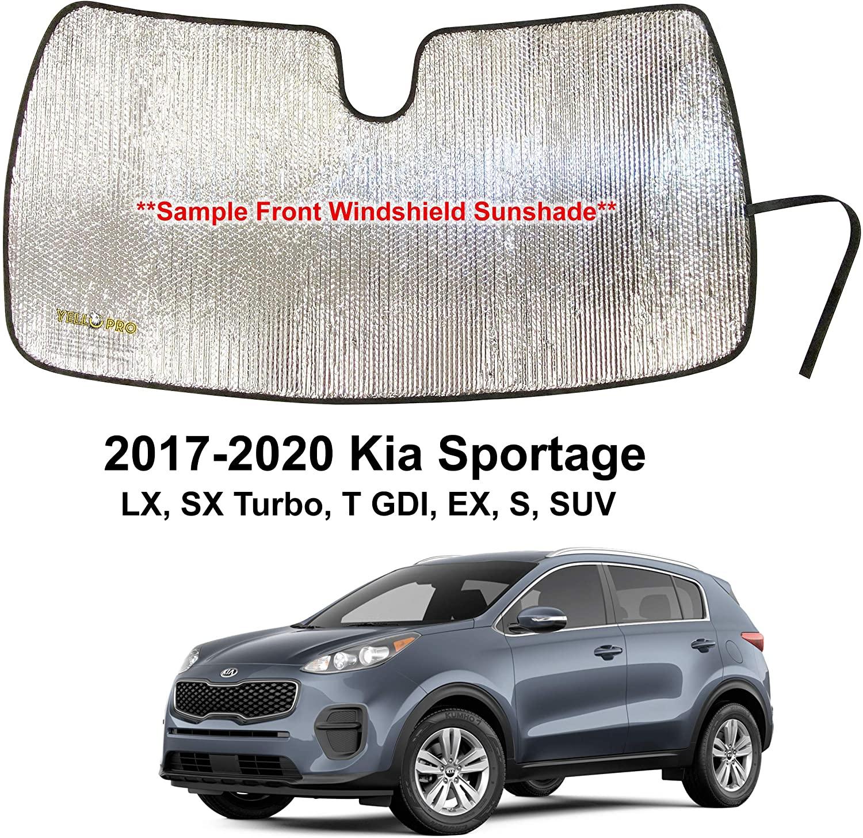 YelloPro Custom Fit Automotive Reflective Front Windshield Sunshade Accessories UV Reflector Sun Protection for 2017 2018 2019 2020 Kia Sportage EX, S, LX, SX Turbo, T GDI SUV