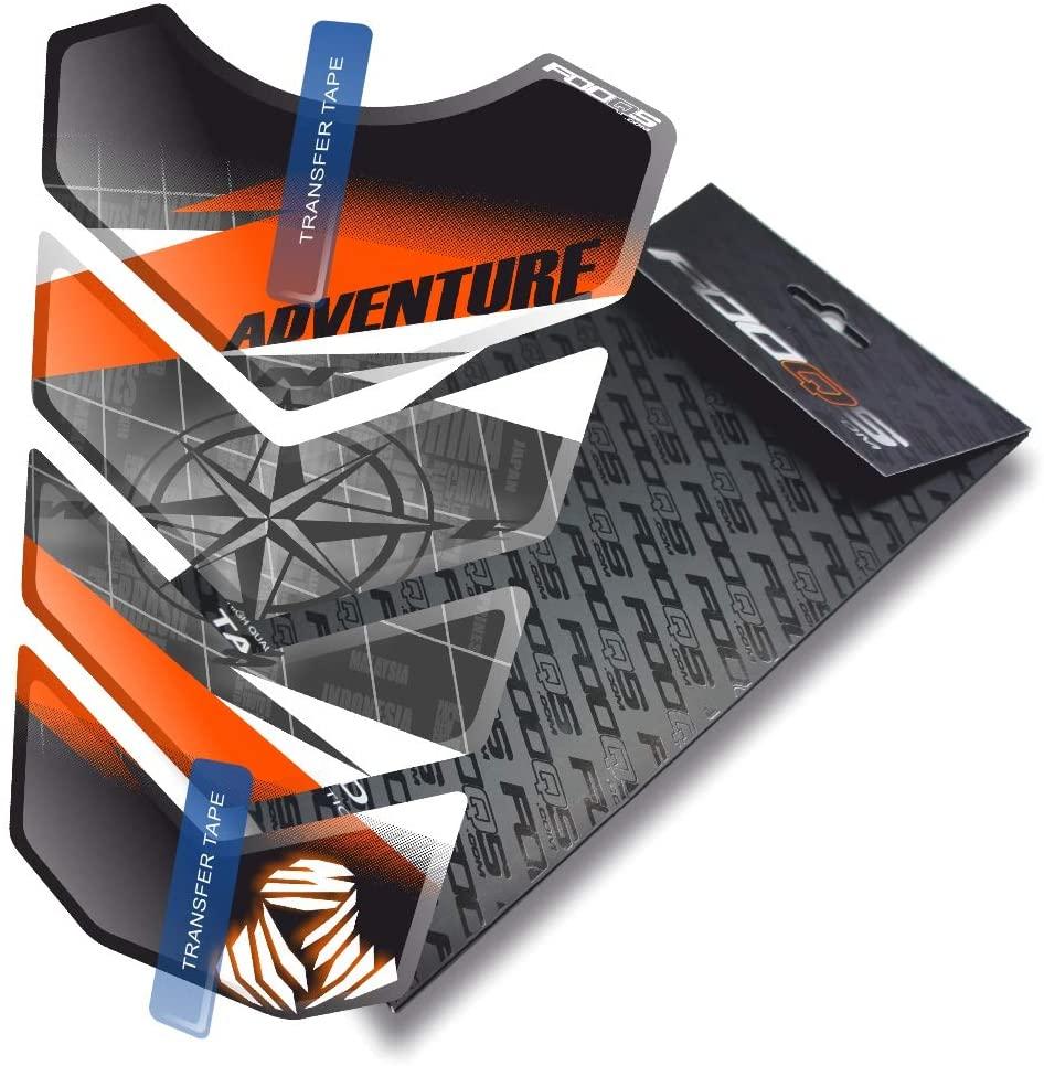 Fooqs Tankpad for KTM 1050 1090 1190 1290 Adventure Adventurer R Adventure-R (White/Black/Orange 4)