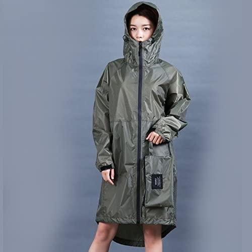 ZhaoZenm Long Thin Raincoat Women Men Waterproof Hood Backpack Rain Coat Ponchos Jackets Cloak Big Size