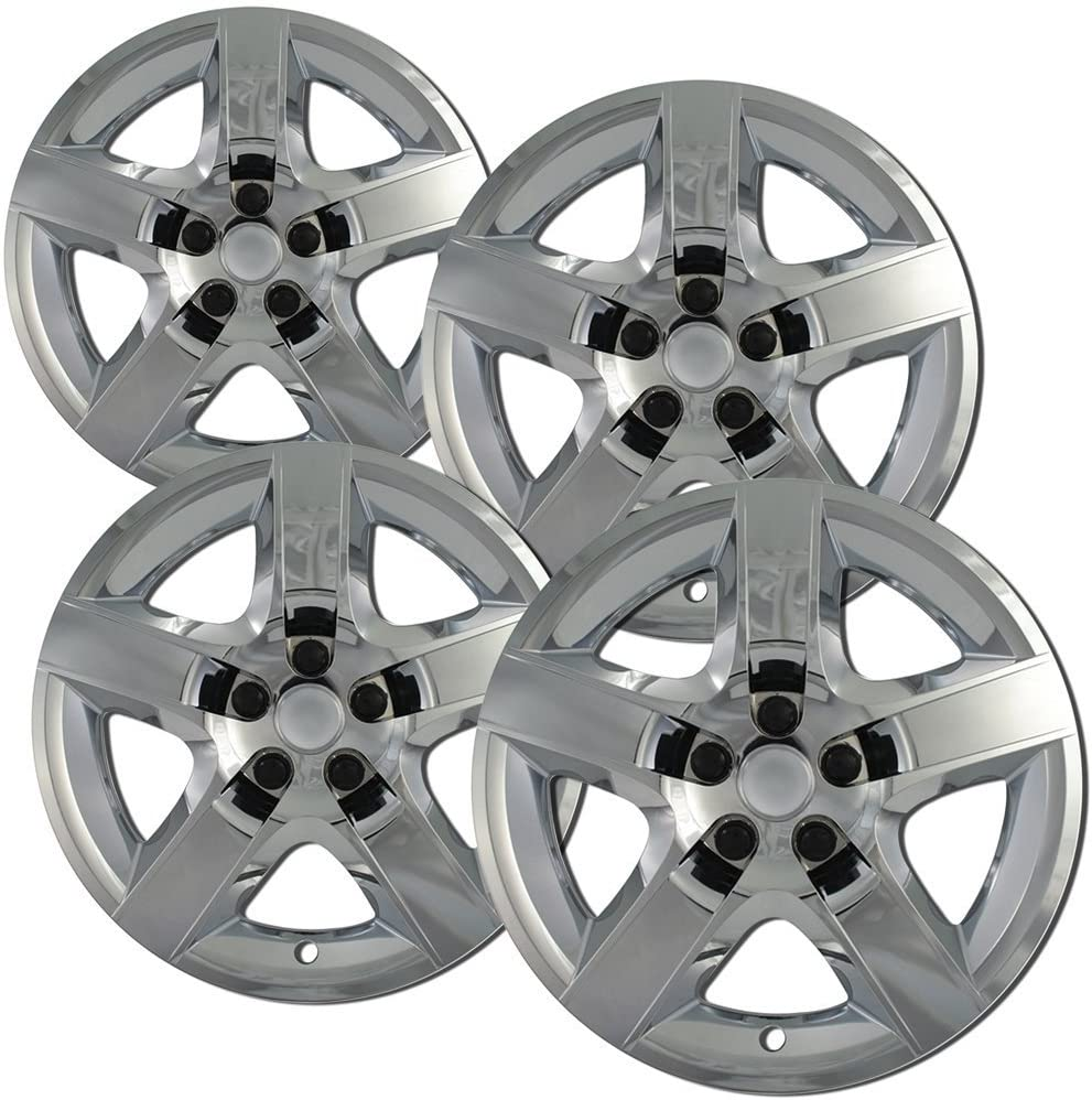 Hub-caps for 15-16 Subaru Legacy (Pack of 4) Wheel Covers 17 inch Snap On Chrome