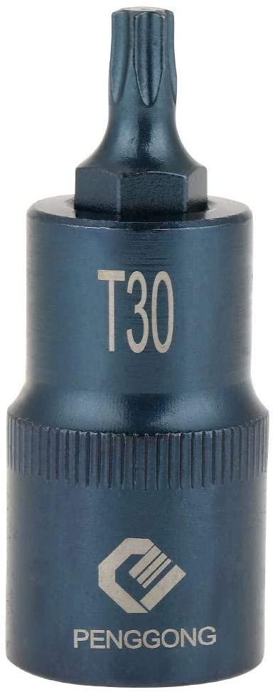 Star Bit Socket T20-T70, electric screwdriver, plum socket, drill adapter, power tool, 50 mm (1/2