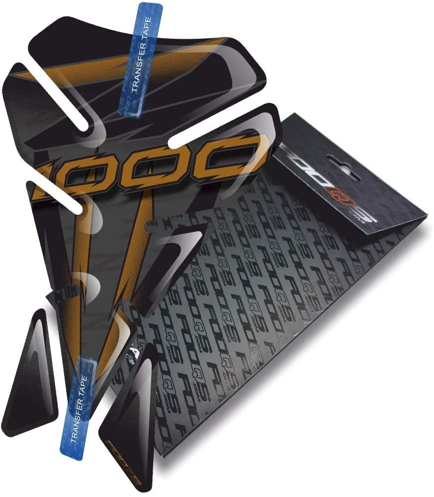 Fooqs Tankpad V1 for Kawasaki Z1000 Z 1000 (Black/Gold)