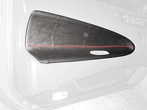 RedlineGoods insercion de puertas delanteras (4 piezas) Compatible with Honda Prelude 1992-96. Alcantara Negra Costura Plata