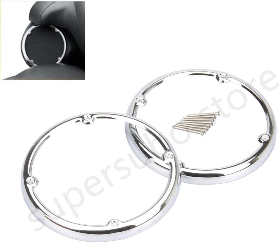 Chrome Speaker Trim For Harley Touring FLT FLHT FLHRC Road King Street Electra Glide Lower Vented Fairings