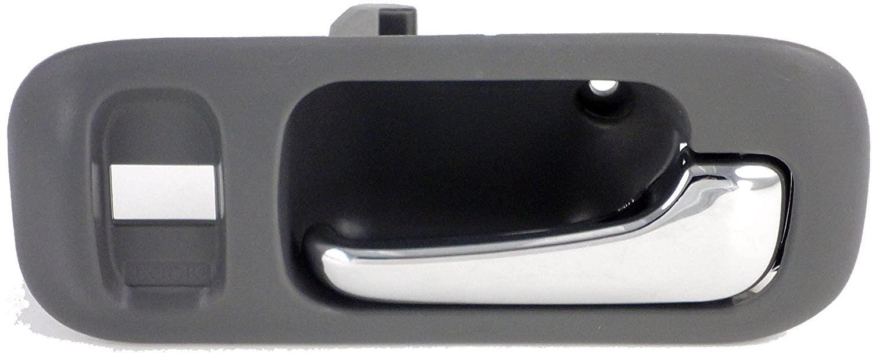 Dorman 82217 Front Passenger Side Interior Door Handle for Select Honda Models, Gray and Chrome