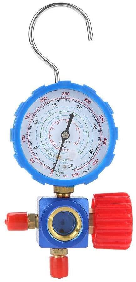 Air Condition Manifold Gauge Refrigerant Manifold Gauge Set Manometer and Valve 500psi 35kgf/cm² with Visual Mirror
