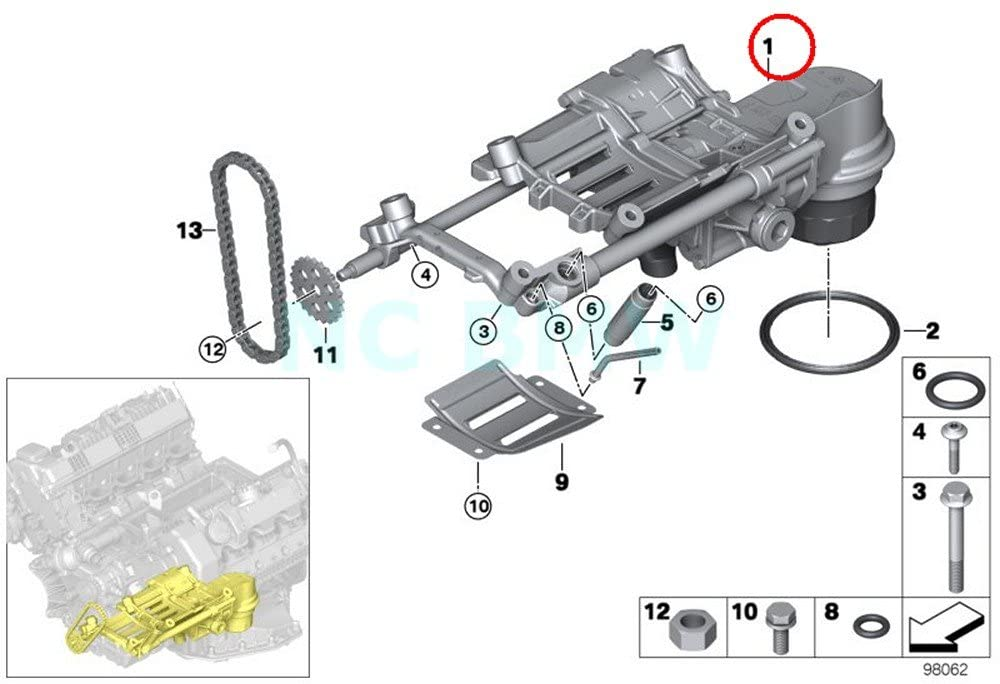 BMW Genuine Oil Pump With Oil Filter