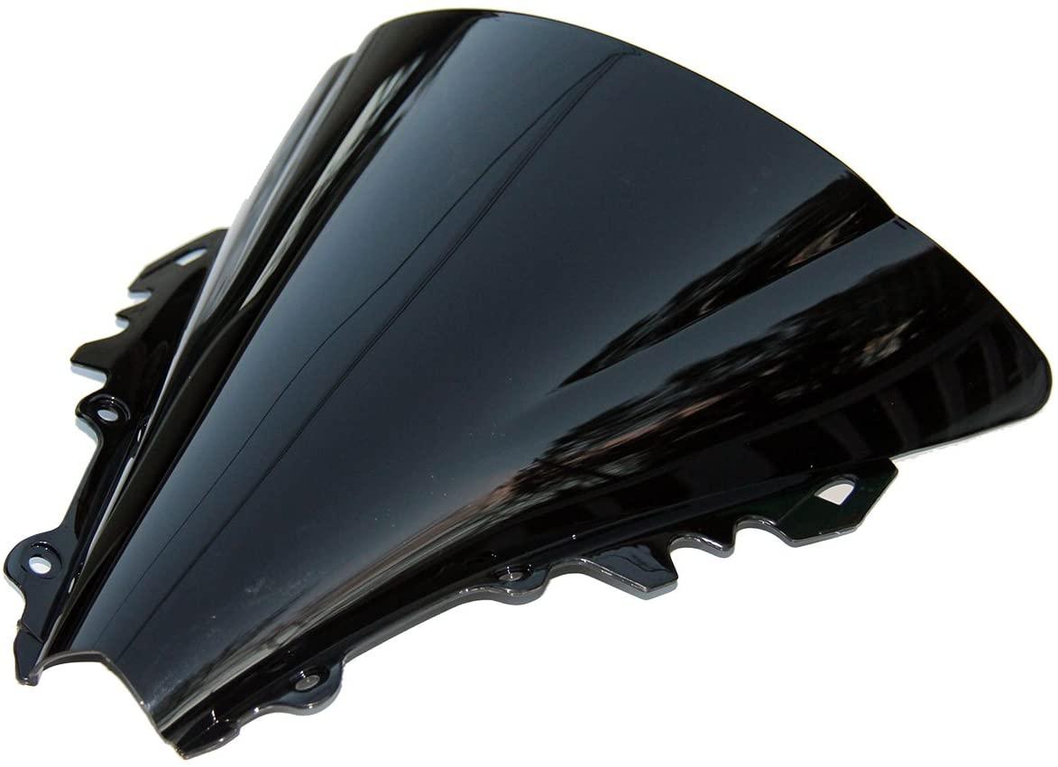 MotorToGo WS-8 Windshield Windscreen Shield for Yamaha R6 Tinted Black Dark Smoke New