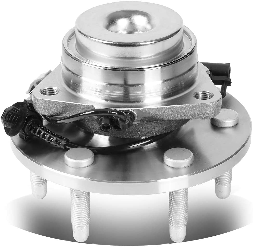 DNA Motoring OE-WHA-011 Semi-Polished Steel Wheel Bearing Hub Assembly 515097 For 07-13 Chevy Cadillac GMC