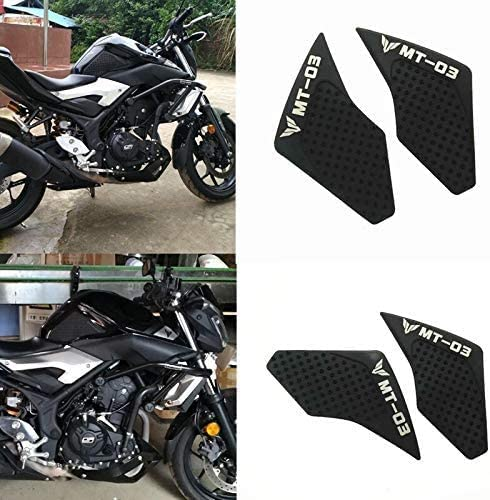 JIANXING Durable Stylish Motorcycle Accessories for Yamaha MT-03 MT03 MT 03 15-17 Year Motorcycle Tank Pad Protector Sticker Decal Gas Knee Grip Tank Traction Pad Side Easy to Install