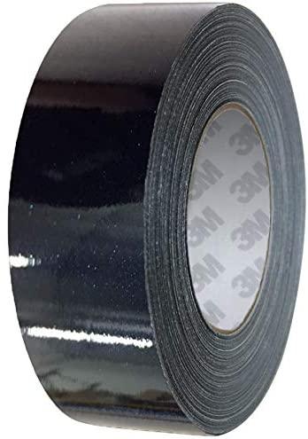 VViViD 3M 1080 Metallic Black Gloss Vinyl Detailing Wrap Pinstriping Tape 20ft Roll (1 Inch x 20ft)