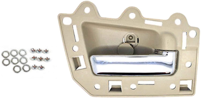 For Jeep 2005-2011 Grand Cherokee Rear Right Inside Inner Door Handle Beige Chrome Bolt BJ0004NS 2005 2006 2007 2008 2009 2010 2011