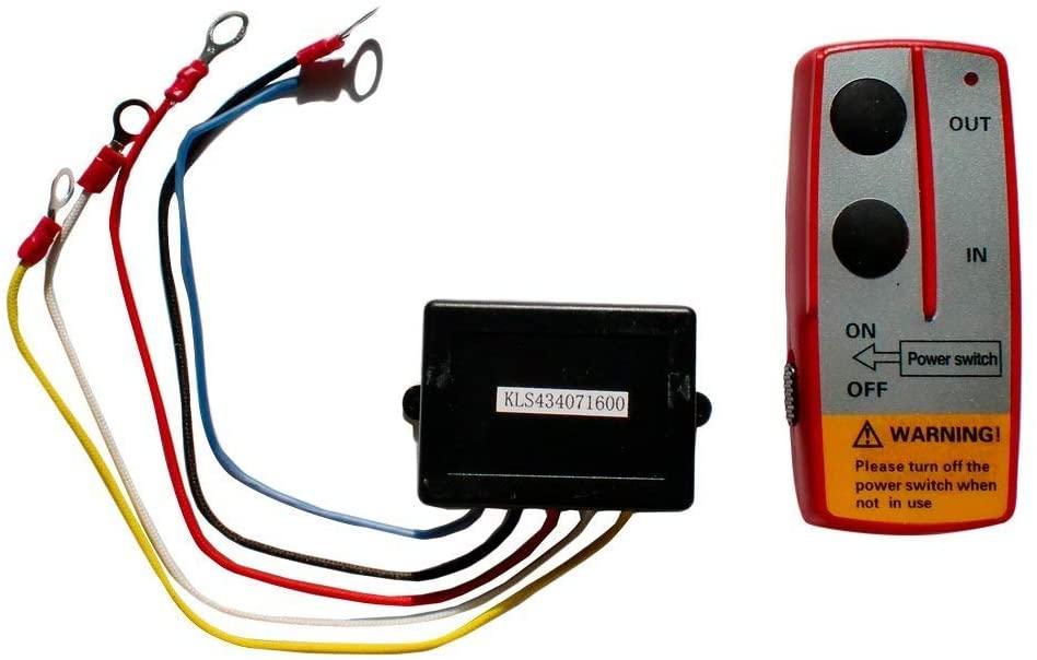 Engo 79-00008 12 Volt Wireless Control for Winch, Black