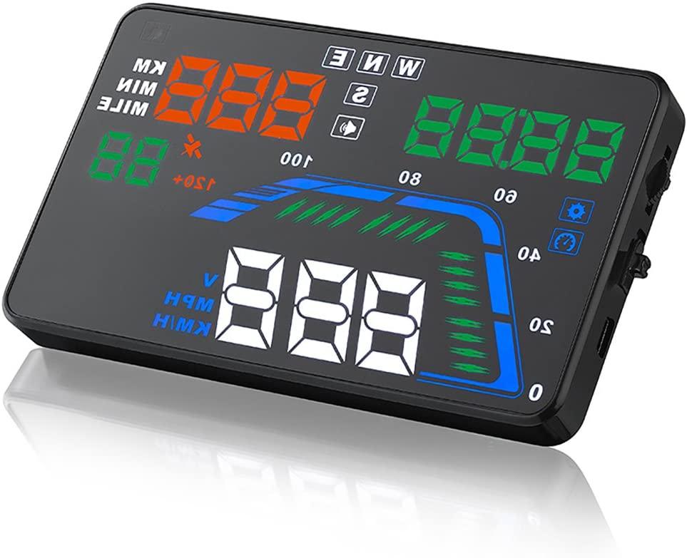 SEANFAR Q7 Head Up Display HUD OBD2 Windshield Universal Car GPS 5.5