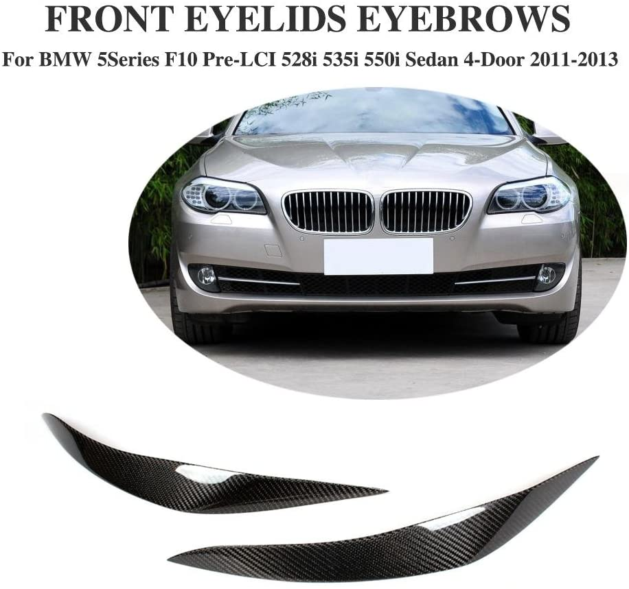JC SPORTLINE Carbon Fiber Headlight Cover fits BMW F10 5 Series 2011-2013