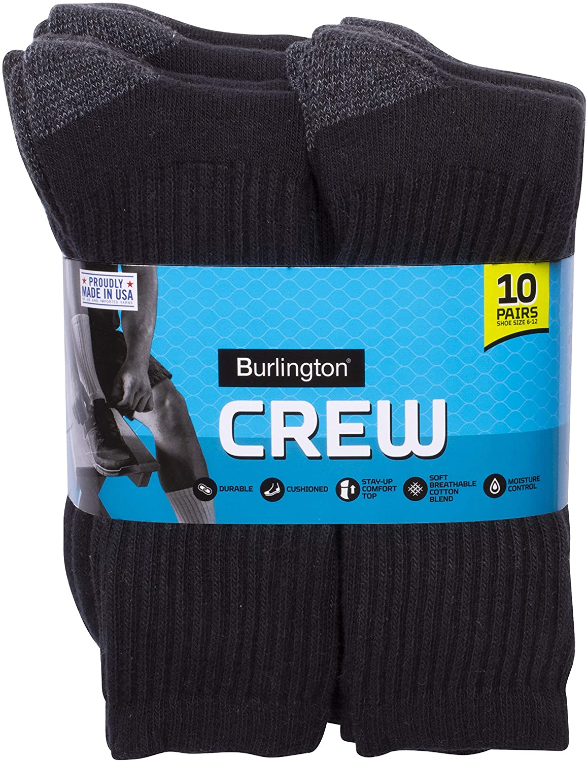 Burlington Comfort Power Men's Crew Sock