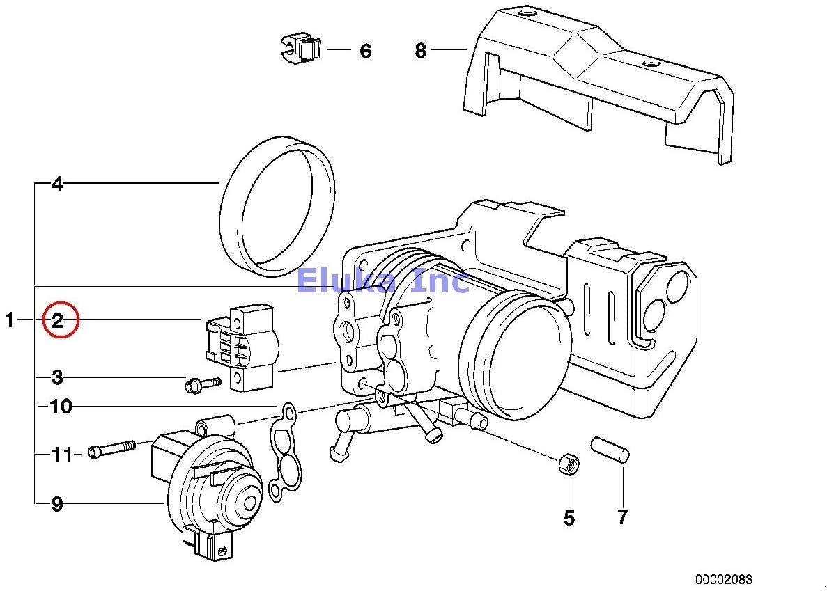 BMW Genuine Fuel Injection Throttle Valve Switch 4 KOHM 318i 318is 318ti 320i 323i 325i 325is 328i M3 M3 3.2 740i 740iL 528i 540i 540iP Z3 1.9 Z3 2.8 Z3 M3.2