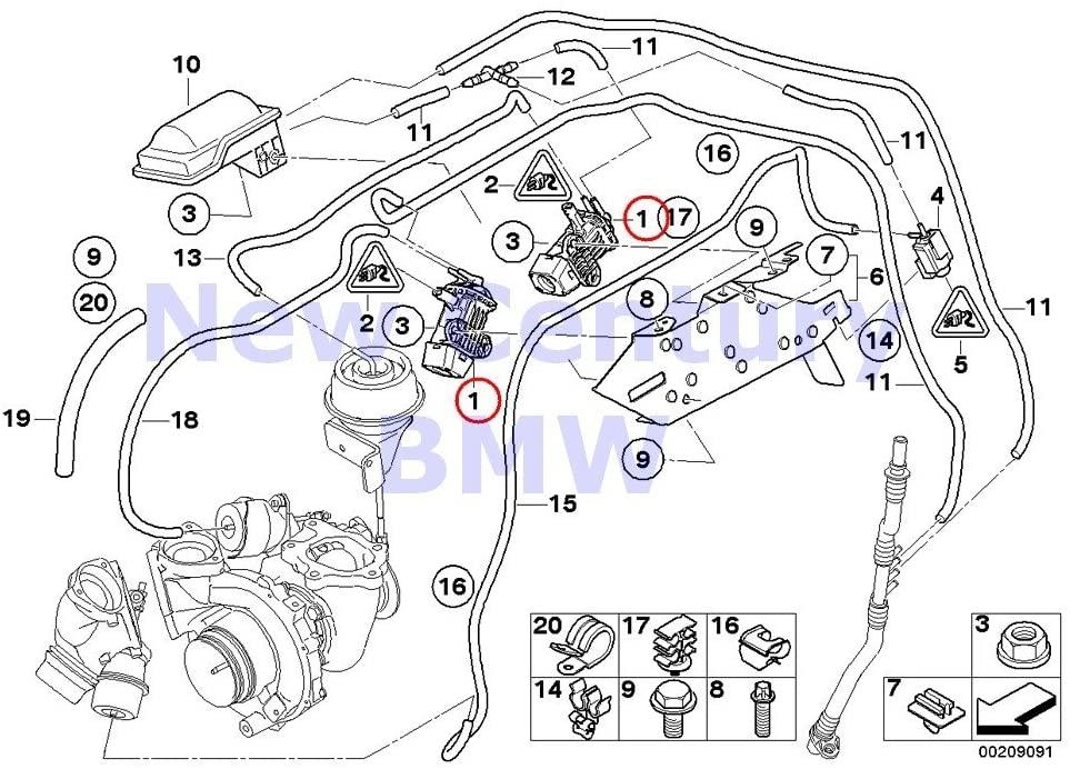 BMW 2 X Genuine Vacuum Control Pressure Converter X5 3.5d X5 35dX 335d