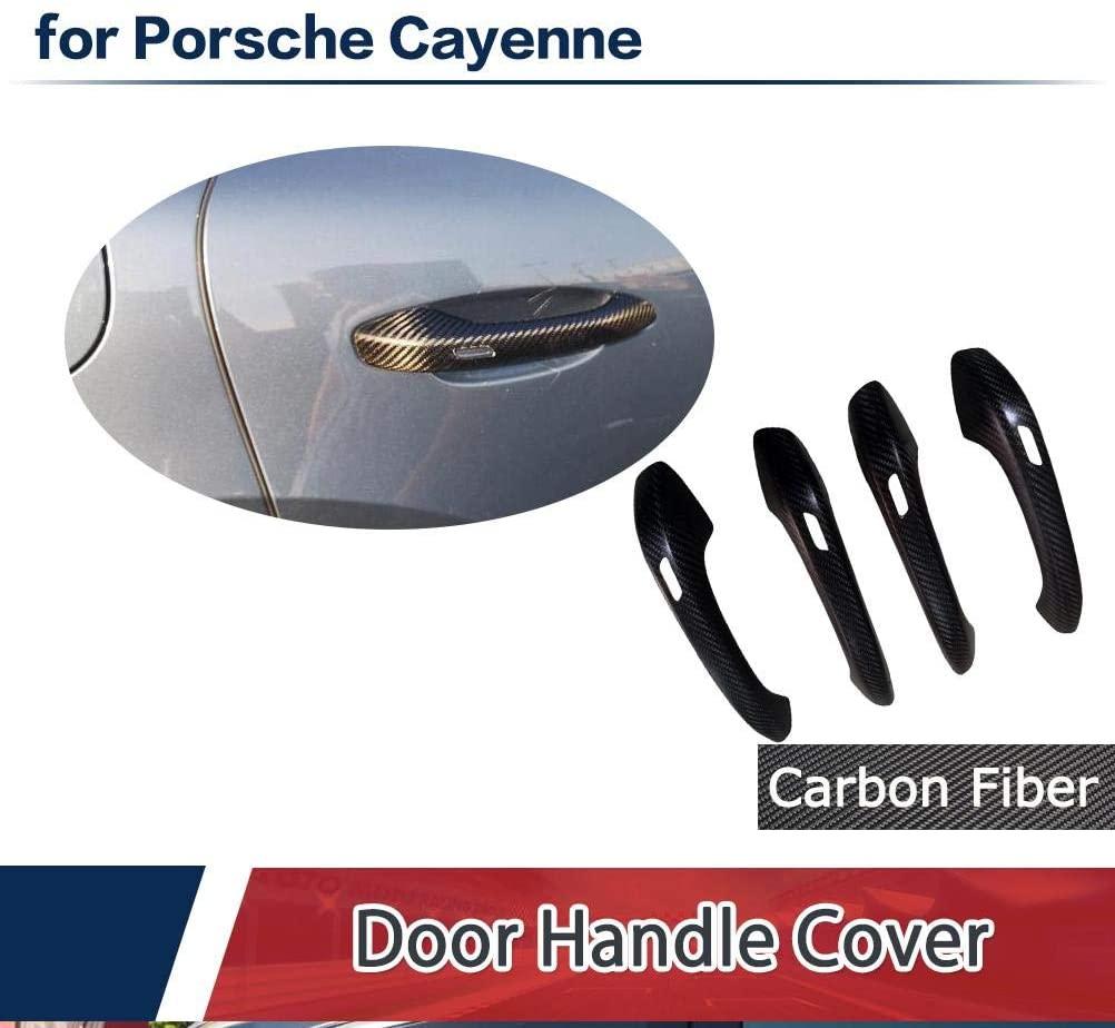 JC SPORTLINE Fits for Porsche Cayenne Side Door Handle Bar Cover Interior Trim 2018 SUV 4 Door