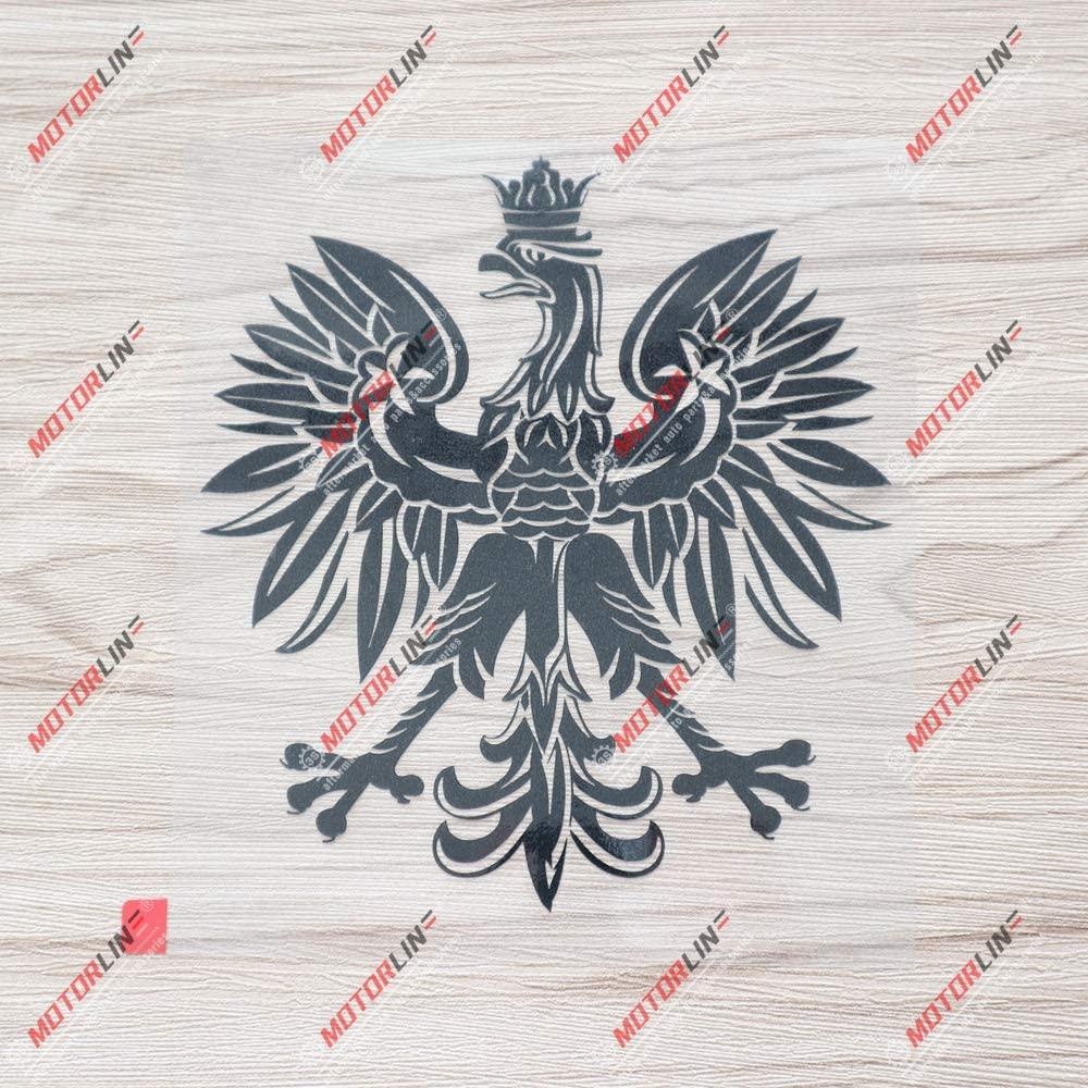 3S MOTORLINE 6 Black Polish Eagle Coat of arms of Poland Polski Decal Sticker Car Vinyl sda3