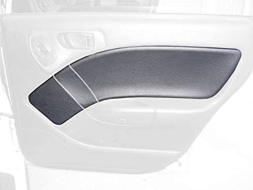 RedlineGoods insercion de puertas traseras Compatible with Subaru Outback 1995-99. Alcantara Negra Costura ROJA