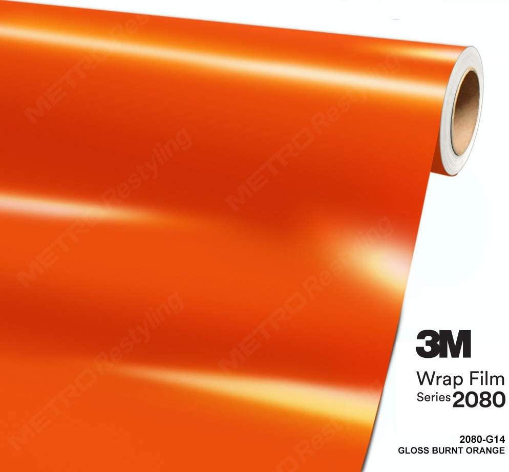 3M 1080 G14 GLOSS BURNT ORANGE 60in x 360in (5ft x 30ft) Car Wrap Vinyl Film