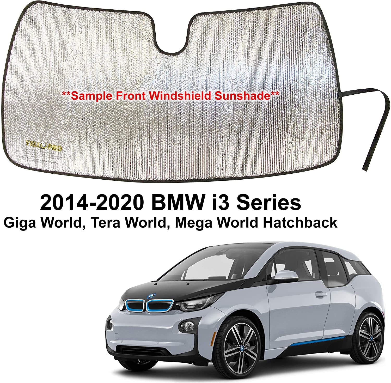 YelloPro Custom Fit Automotive Reflective Front Windshield Sunshade for 2014 2015 2016 2017 2018 2019 2020 BMW i3 Series Giga World, Tera World, Mega World Hatchback, UV Sun Protection Accessories