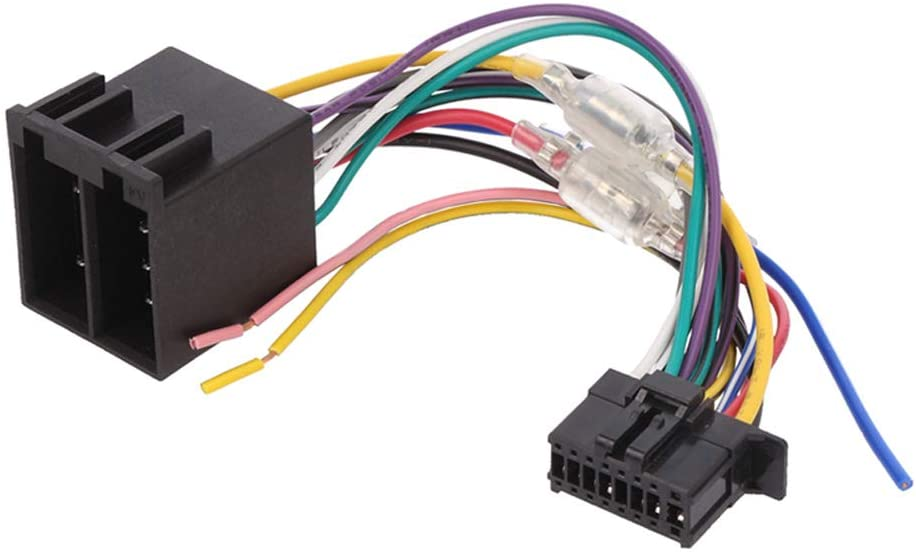 AVH Pioneer New 2015-16 Pin to ISO Lead Wiring Loom Power Adaptor Wire Radio Connector - Brake Wire Attached