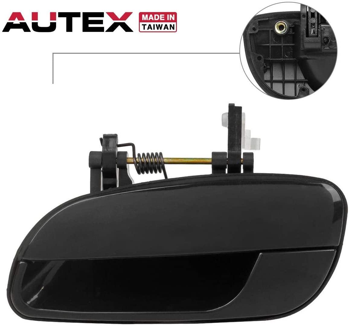 AUTEX Door Handle Black Exterior Rear Left Driver Side Compatible with Elantra 2001 2002 2003 2004 2005 Door Handle 80690 836502D000 83650-2D000 HY1520102