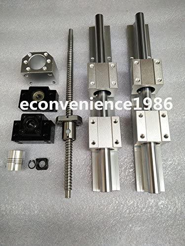 2 X SBR20-400mm LINEAR RAIL & 4SBR20UU & 1x RM2005-400mm Ballscrew&1BF15/BK15set